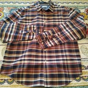 Lacoste mens button up long sleeve shirt reg fit